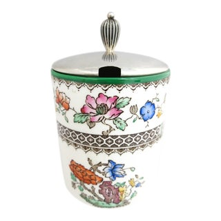 1913 Copeland Spode Jelly/Jam Pot With Sterling Lid For Sale