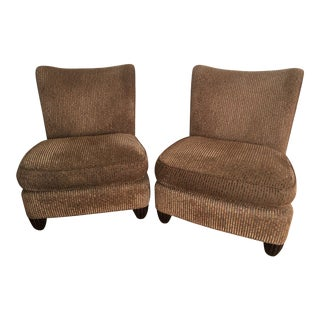 Modern Barbara Barry for Baker Slipper Chairs - A Pair For Sale
