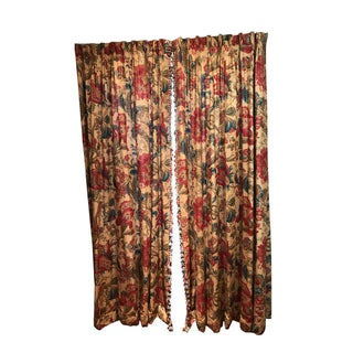 Traditional Drapery Curtains - 8 Panels