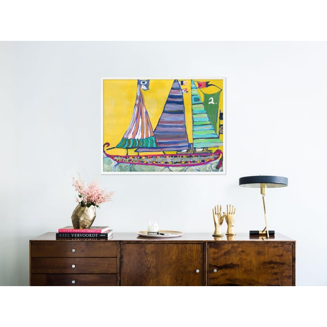 Contemporary SB Bahamas by Lulu DK in White Framed Paper, Medium Art Print For Sale - Image 3 of 4