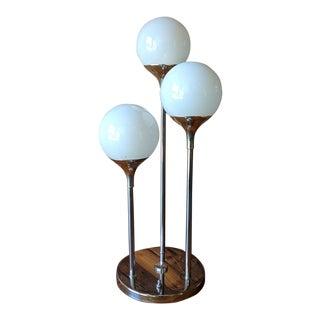 Vintage Lightolier 1970's Cascading Chrome Table Lamp