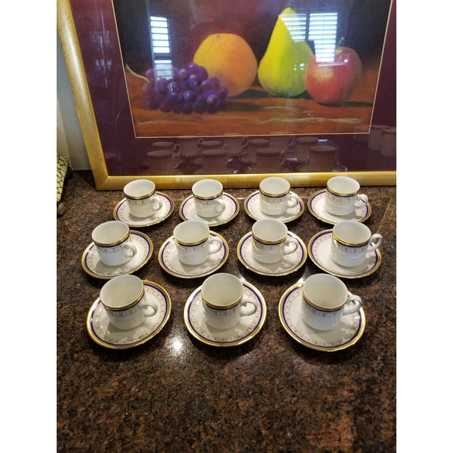 Collection of Eleven German Porcelain Demitasse Cups and Saucers For Sale - Image 9 of 9