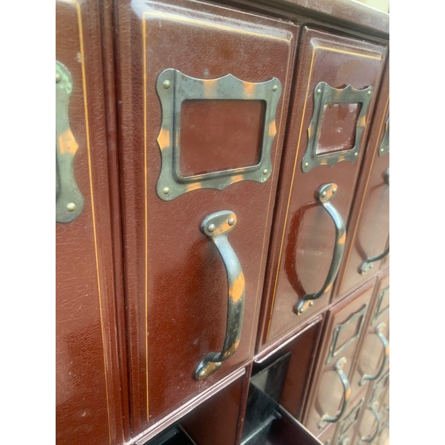 Mid 20th Century Vintage Industrial File Cabinet For Sale - Image 9 of 11
