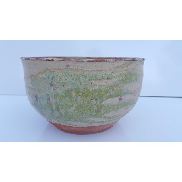 Mid-Century Modern Vintage Drip Glaze Fat Lava Planter Pot . For Sale - Image 3 of 8