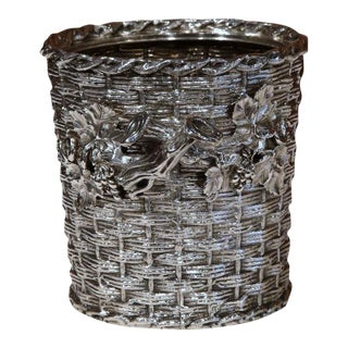 19th Century English Silver Plated Wine Cooler For Sale