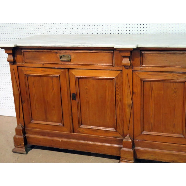 Traditional Continental Style Marble Top Sideboard For Sale - Image 3 of 8