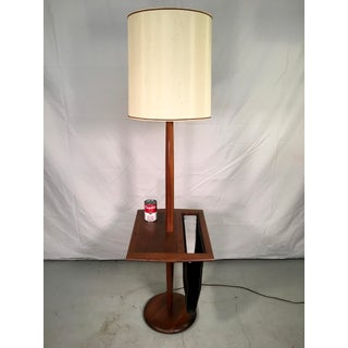 Laurel Lamp Co. Walnut Floor Lamp with Table & Magazine Rack Preview