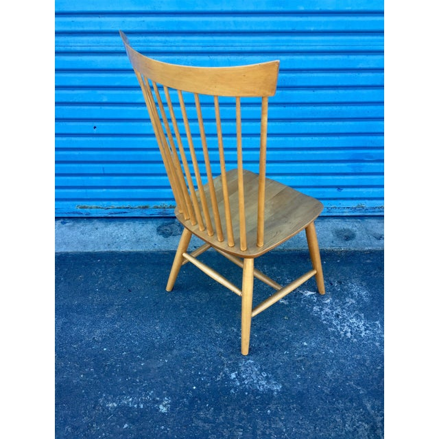 Ethan Allen High Comb Spindle Back Chair For Sale - Image 5 of 11
