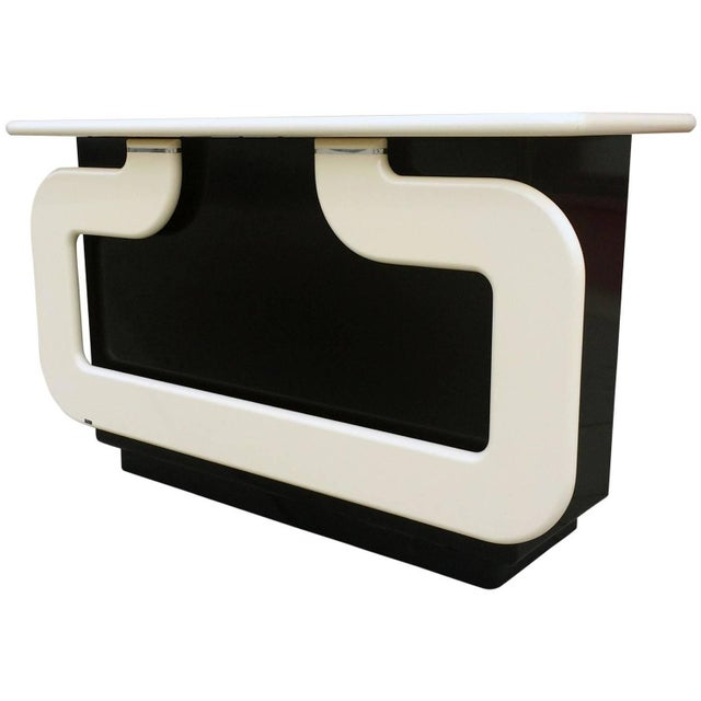 Black and Ivory Lacquer Dry Bar - Image 1 of 7