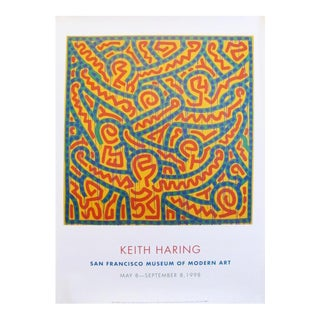 1998 Keith Haring Poster, San Francisco Museum of Modern Art For Sale