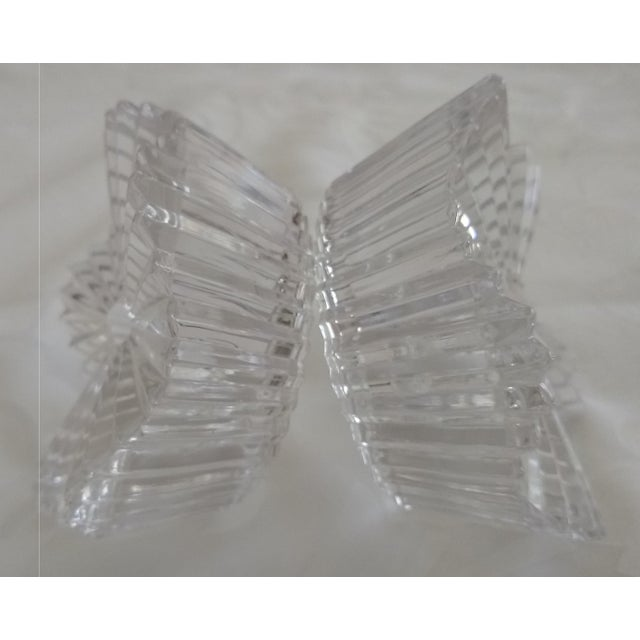 Vintage Cut Glass Candleholders - a Pair For Sale In Houston - Image 6 of 7