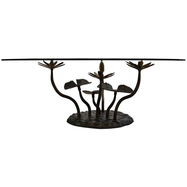 Stylish Mid-Century Modern Lotus Coffee Table For Sale - Image 11 of 11