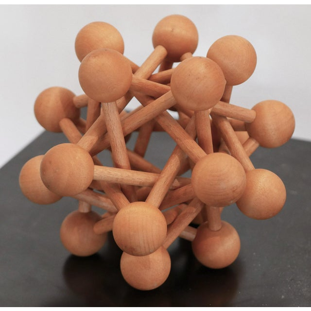 Mid-Century Wood Atomic Model For Sale - Image 4 of 6