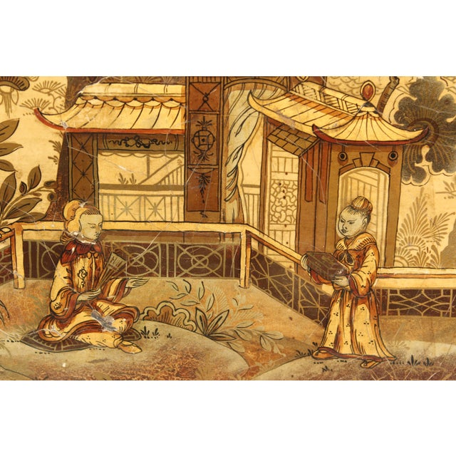 Wood English Regency Style Chinoiserie Decorated Tray Table For Sale - Image 7 of 13