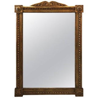 Don Ruseau Regency Style Giltwood Mirror For Sale