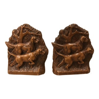 Syroco Hunting Dog Bookends - a Pair