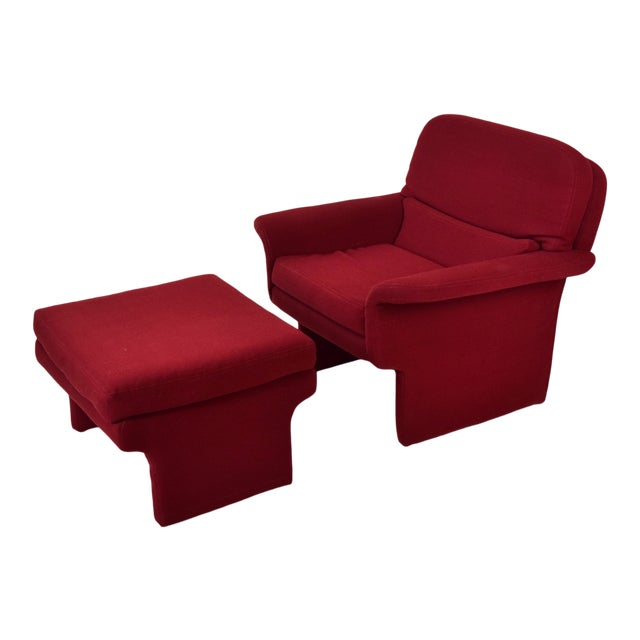Mid-Century Modern Vladimir Kagan for Preview Armchair and Ottoman For Sale