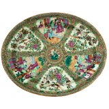 Image of Exceptional & Large Chinese Export Canto, Rose Medallion Platter, 18th C. For Sale