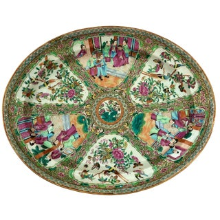 Exceptional & Large Chinese Export Canto, Rose Medallion Platter, 18th C. For Sale
