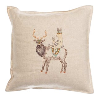 "Contemporary Keeper Pillow Cover - 16"" x 16"" For Sale"