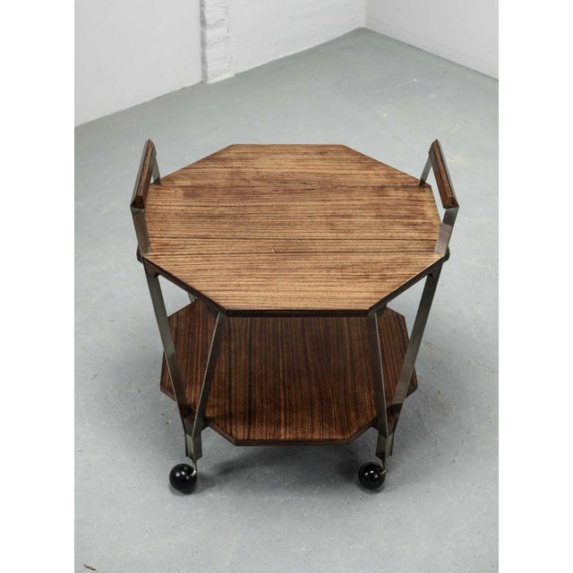 Mid-Century Octagonal Serving Trolley Designed by Ico Parisi for Stildomus Milan, Italy, 1959 For Sale - Image 9 of 13