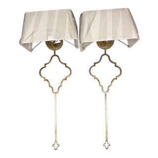 Quatrefoil Wall Sconces - A Pair For Sale