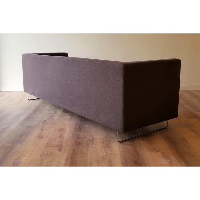 Contemporary Contemporary Blu Dot Bonnie Sofa in Conduit Charcoal For Sale - Image 3 of 12