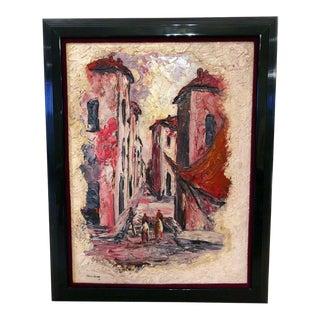 Homer Costello 1956 Pallet Oil Painting Framed For Sale