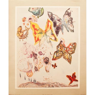 1951 Dali, Original Period Butterflies Lithograph, the Mrs. Albert D. Lasker Collection For Sale