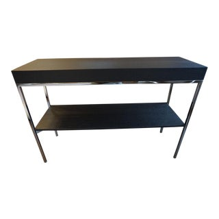 "Contemporary Antonio Citterio ""Ebe"" Brushed Black Oak and Chrome Table For Sale"