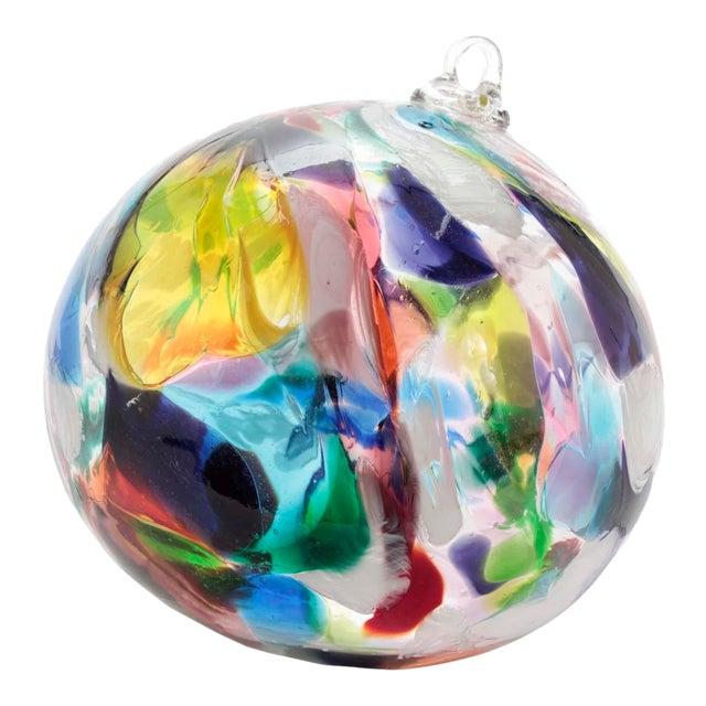 Large Hand Blown Glass Ball Garden Ornament Suncatcher For Sale