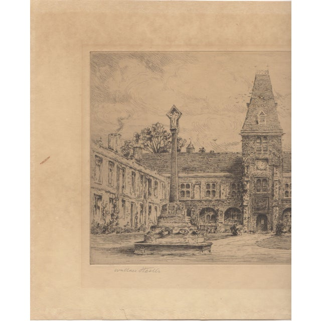 Wallace Hester Etching - Dulwich College c.1910 - Image 2 of 4
