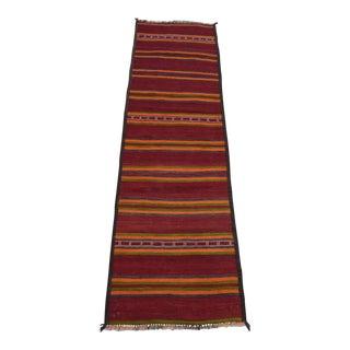 Vintage Afghan Tribal Maldari Kilim Runner - 2′3″ × 7′11″