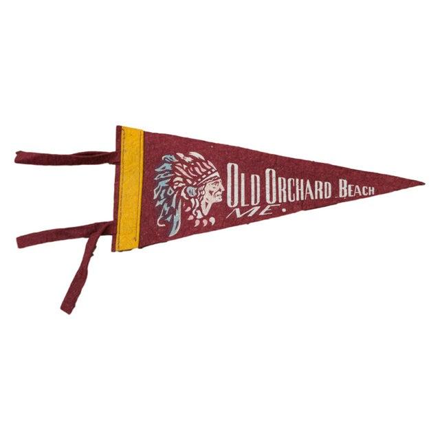 Vintage Old Orchard Beach Felt Flag Banner - Image 1 of 2