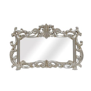 La Rue French Traditional Satin Silver Wall Mirror For Sale