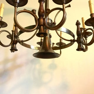 Brass French Horn 8 Light Chandelier Preview