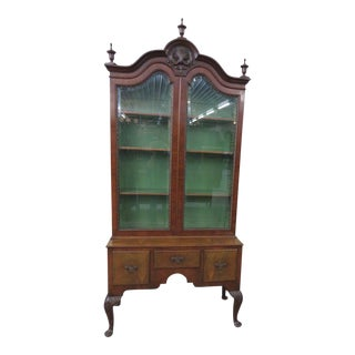 Early 20th Century Antique Georgian Style China Cabinet For Sale