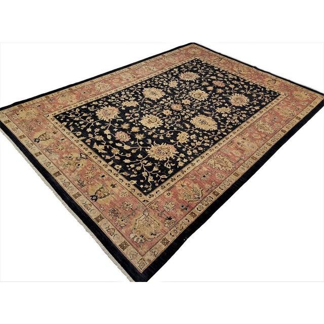 """Textile Kafkaz Peshawar Hope Blue & Pink Wool Rug - 9'9"""" x 13'4"""" For Sale - Image 7 of 7"""