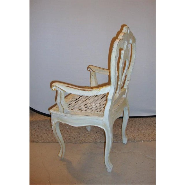 Louis XV Style Gilt Decorated Arm Chair - Image 5 of 9
