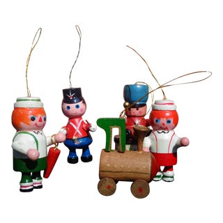 Vintage Soldiers Christmas Ornaments - Set of 5 For Sale