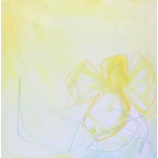 """Buttercup II"" Contemporary Minimalist Abstract Mixed-Media Painting by Sarah Trundle For Sale"