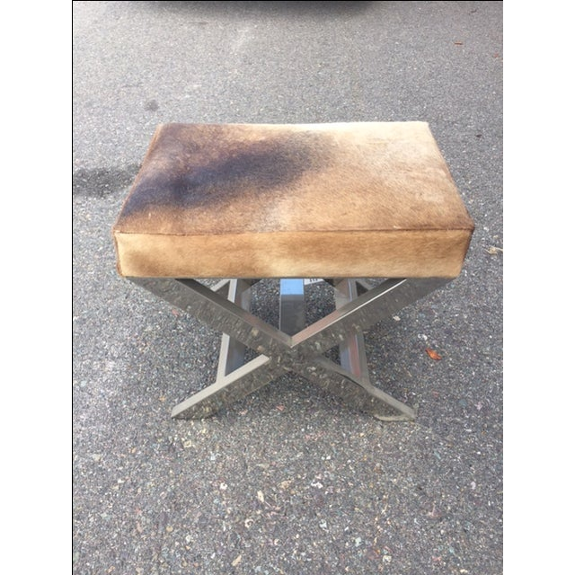 Shari Cowhide Small Bench - Image 3 of 3