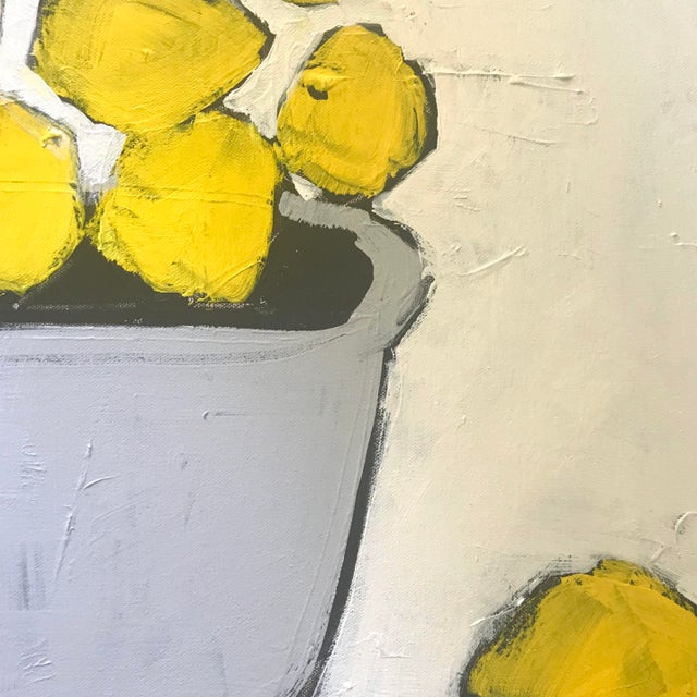 """Sarah Trundle """"Lemons"""" Contemporary Abstract Painting by Sarah Trundle For Sale - Image 4 of 5"""