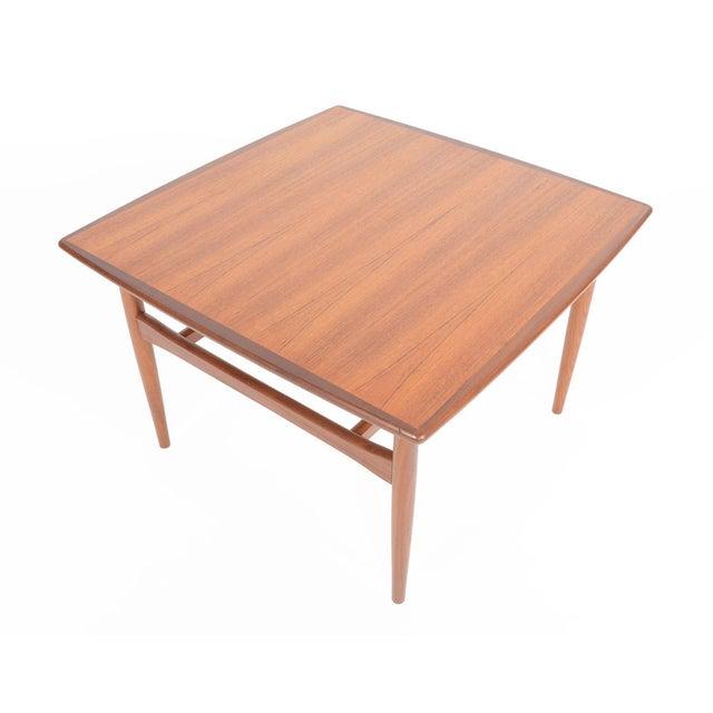 Mid-Century Danish Modern Square Teak Coffee Table - Image 1 of 8