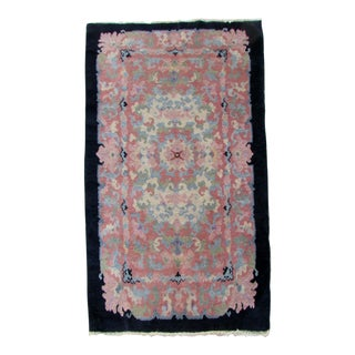 1920s, Handmade Antique Art Deco Chinese Rug 3.2' X 4.10' For Sale