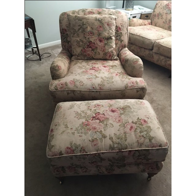 "Upholstered in Lee's ""Bertha Teaberry"" tea stained linen, this is a comfy chair with Lee's usual excellent bones and the..."