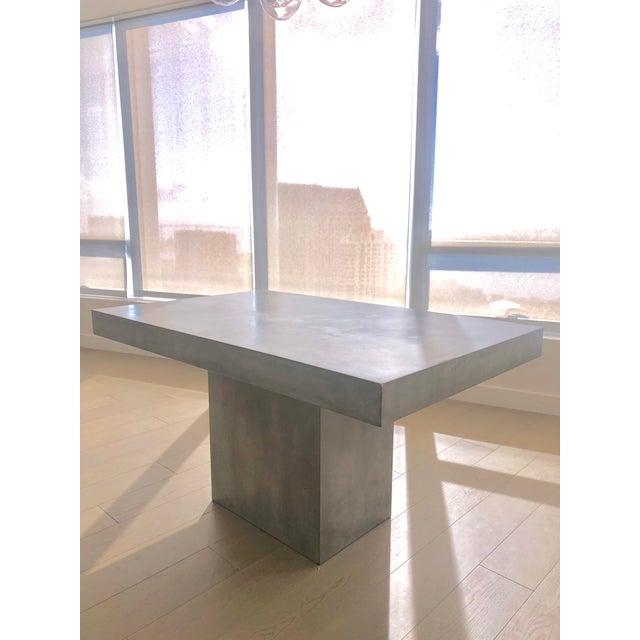 Modern Cb2 Fuze Grey Dining Table Chairish