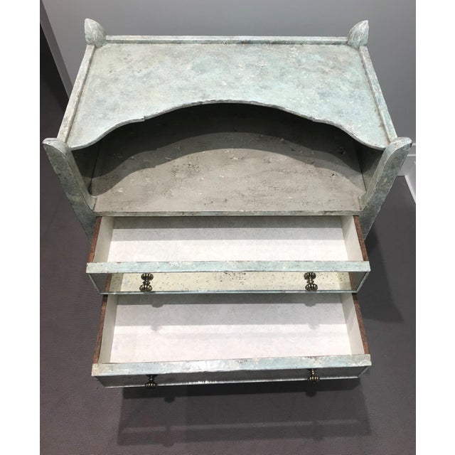 Antiqued Mirrored Chest Of Drawers For Sale In Detroit - Image 6 of 13