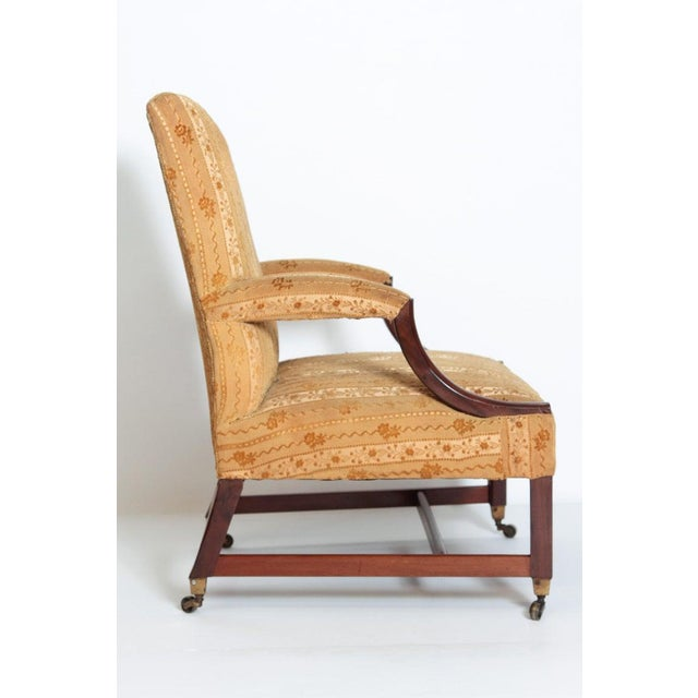 """18th Century George III Upholstered """"Gainsborough"""" Library Chair For Sale - Image 4 of 12"""