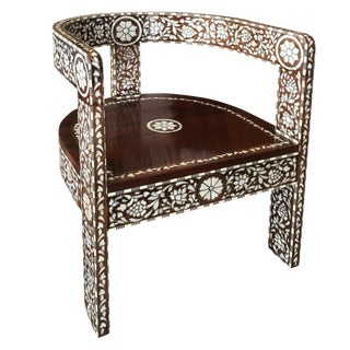 Syrian Mother of Pearl Inlay Arm Chair For Sale